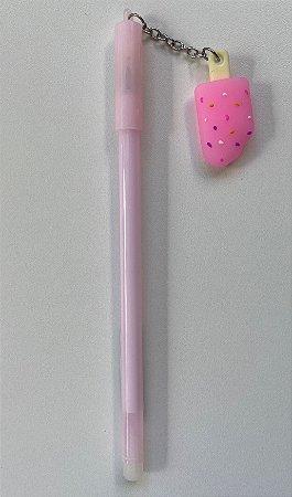 Caneta Gelato Confete Picole Sorvete Rosa