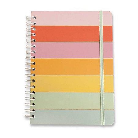 Caderno Wire-o Todas Juntas Arco Iris Pautado