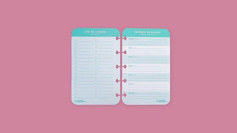 Lista de compras e Cardapio Caderno Inteligente Meals & Grocery List