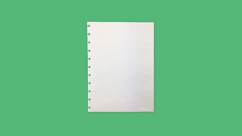 Refil Pautado Linha Branca Grande 90g