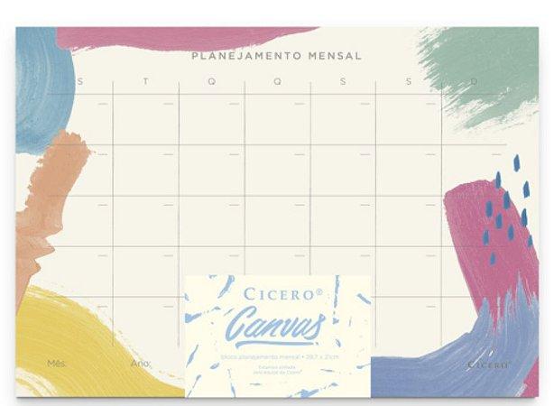 Bloco Planner Mensal Canvas