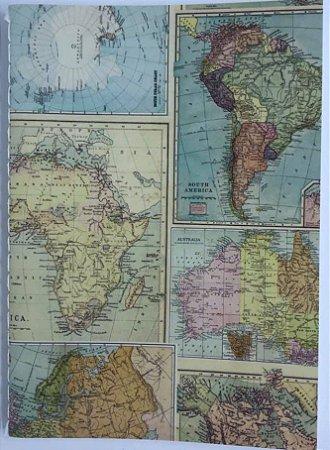 Caderno Pocket A6 World
