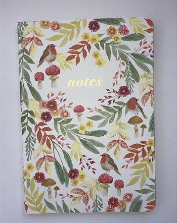 Caderno Flexível Floresta Encantada pastel
