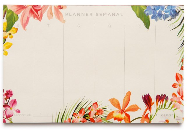 Bloco Planner Semanal Floresta Tropical