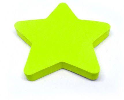 Bloco Adesivo Estrela Verde Neon