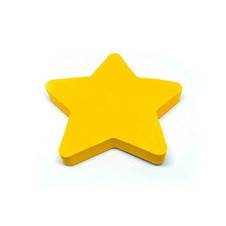 Bloco Adesivo Estrela Laranja Neon