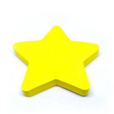 Bloco Adesivo Estrela Amarela Neon