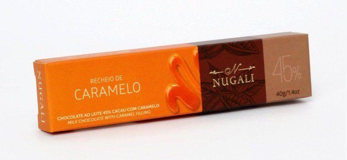 Tablete Chocolate ao leite com Caramelo