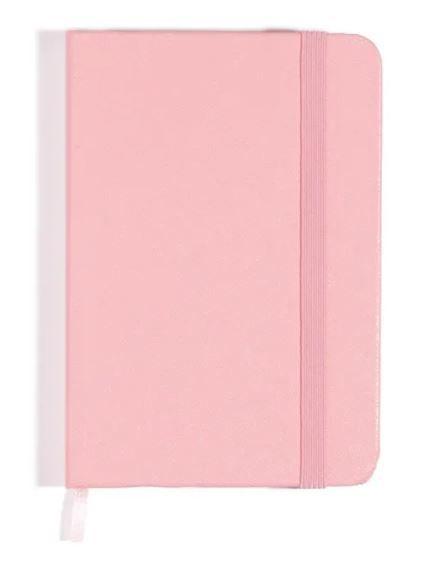 Caderneta Rosa Pastel Sem Pauta 9x13