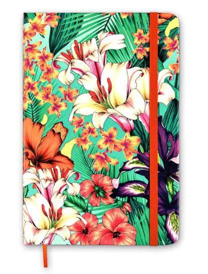 Caderneta Floral Hype Clau Cicala Sem Pauta