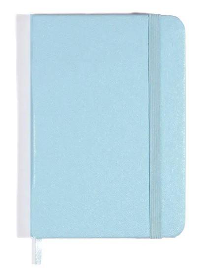 Caderneta Azul Pastel Sem Pauta 9x13