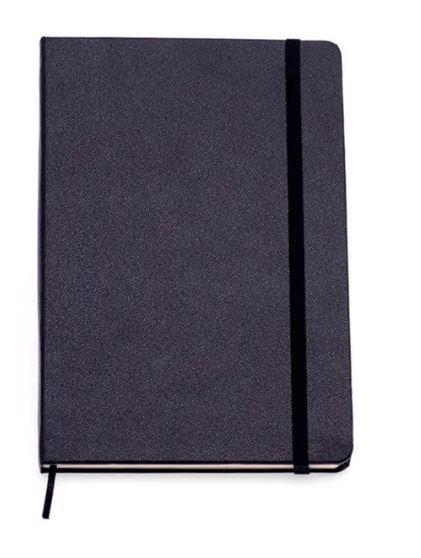 Caderneta Preta Classica Sem Pauta 9x13