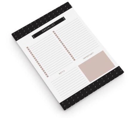 Bloco Check list Noir A4