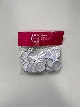 Discos Elastico Branco G 31mm Caderno Inteligente