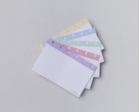 Fichas Pautadas Inteligentes 4x6 Caderno Inteligente