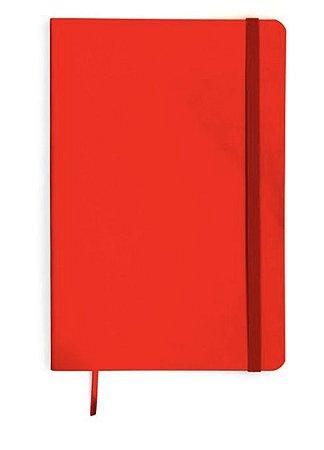 Caderneta Flex Vermelha Classica Pautada 9x13