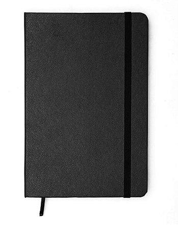 Caderneta Preta Classica Pontado Bullet Journal 14x21