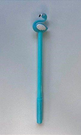 Caneta Flamingo Azul Turquesa