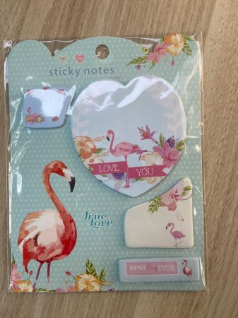 Sticky Notes Flamingo turquesa