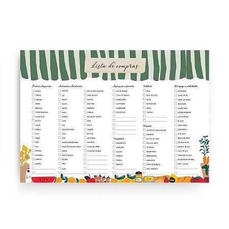 Bloco Lista de Compras com ima Quitanda
