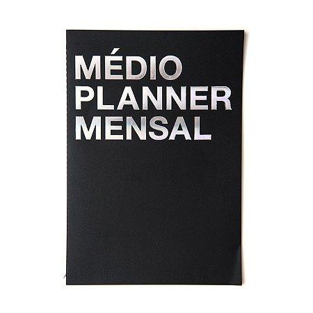 Planner Mensal Na Medida Medio Preto A4