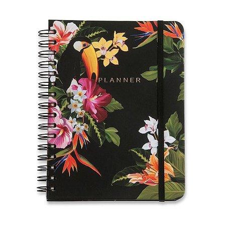 Planner Wire-o Tropical - Fauna - 14,8 x21 - mensal e semanal