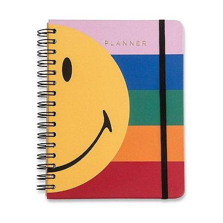 Planner Wire-o Smiley - Listras - 14,8 x21 - mensal e semanal