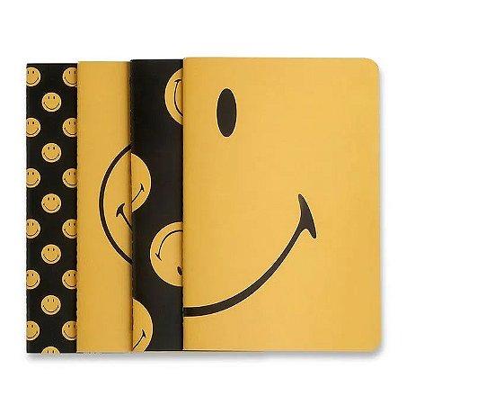 Pack de Cadernos Revistas Smiley Kit Notas Mix