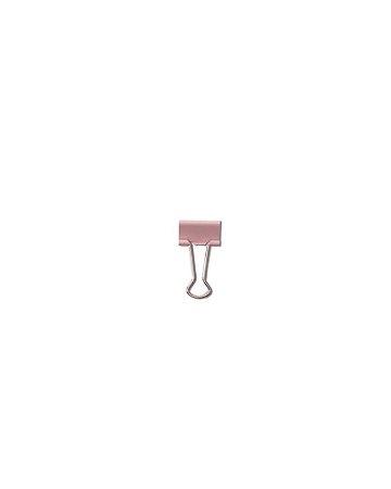 Prendedor de Papel Rosa Pastel Clips 19mm