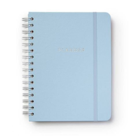 Planner Azul Pastel Semanal A5 Wire-o