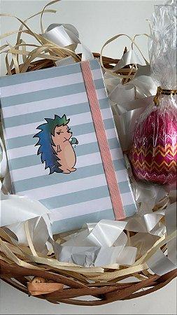 Kit caderneta Riccio e mini ovo de páscoa Nugali