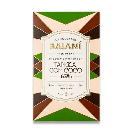 Baianí Tree to Bar - 65% Tapioca com Coco (58g)