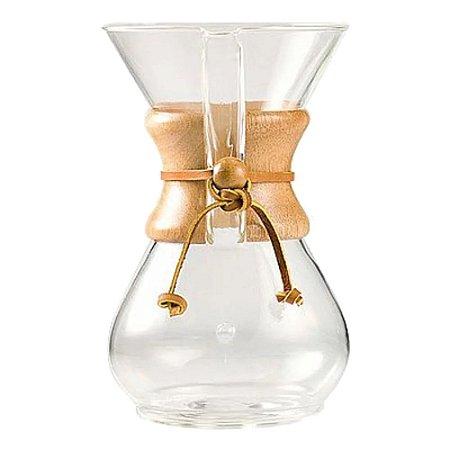 Cafeteira Chemex com Alça de Madeira (6 xícaras)