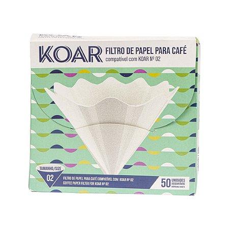 Filtro de papel compatível com Koar - Tamanho 02 - (50 un)