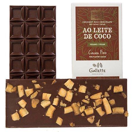 Gallette - Bean to Bar 50% VEGANO - Ao Leite de Coco (100g)