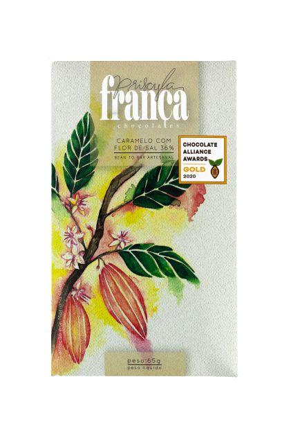 Priscyla França - Caramelo com Flor de Sal 36% (65g)