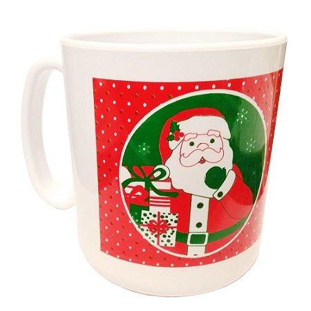 Caneca Plástica Tema Noel Feliz Natal - 400ml
