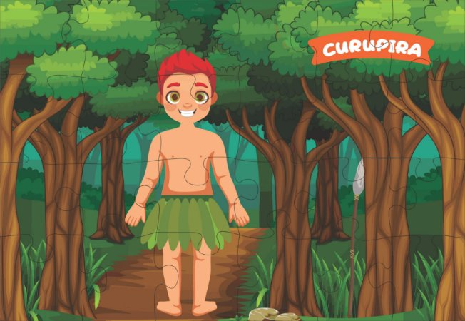 Quebra cabeça Folclore - Curupira