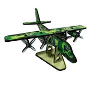 Avião Cargueiro em MDF - Verde