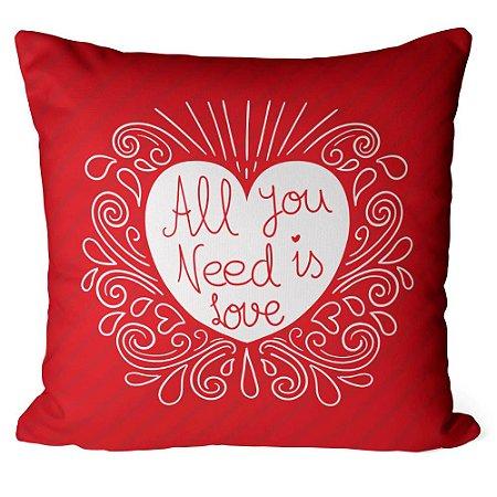 Almofada All You Need Is Love Listras