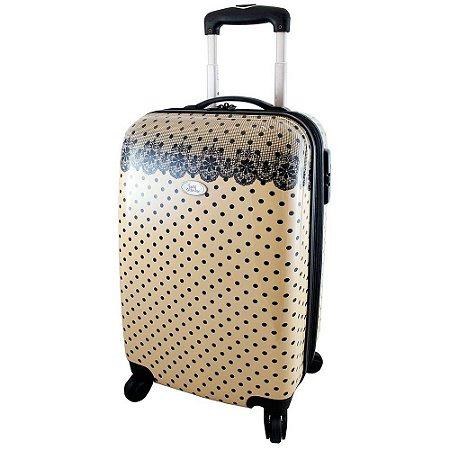 Mala de Viagem Jacki Design Segredo Meigo JDH23017 Bege