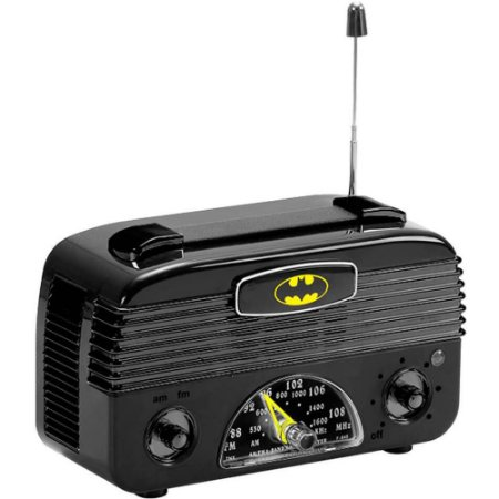 Rádio AM/FM Batman Logo Preto