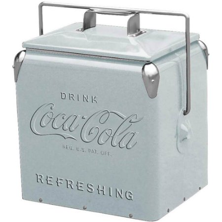 Cooler de Bebidas Coca-Cola Contemporary Prata Metal
