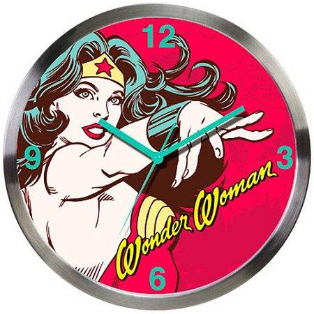 Relógio de Parede Wonder Woman Power 30cm
