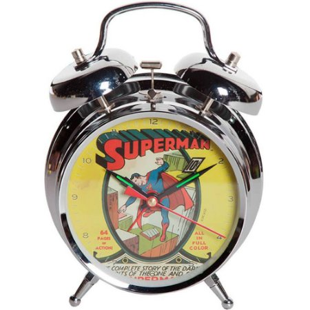 Relógio Despertador Superman Cover em Metal