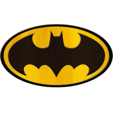Placa Decorativa Batman Logo Big em Madeira 40x30cm
