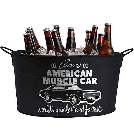 Balde de Gelo GM American Muscle Car Metal
