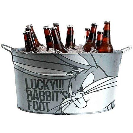 Balde de Gelo Pernalonga Lucky Rabbit em Metal