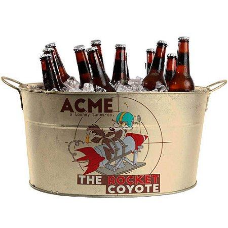 Balde de Gelo Coyote Acme The Rocket em Metal