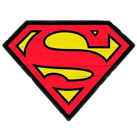 Almofada Superman Logo Vermelho e Amarelo 45x33cm